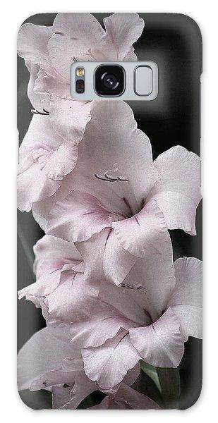 Soft Pink Gladiolas L Galaxy Case
