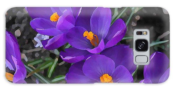Soft Purple Crocus Galaxy Case