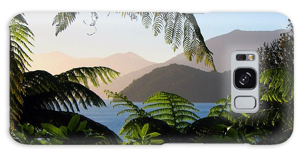 Soft Sun On Hills Through Ferns Galaxy Case