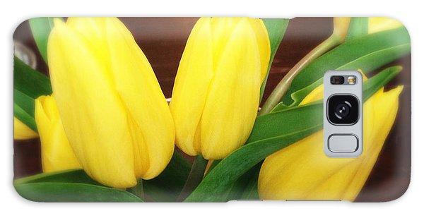 Florals Galaxy Case - Soft Yellow Tulips by Matthias Hauser