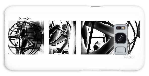 Galaxy Case featuring the photograph Solar Jail Triptych by Stwayne Keubrick