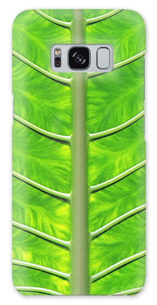 Solar Panel Leaf Veins Galaxy Case