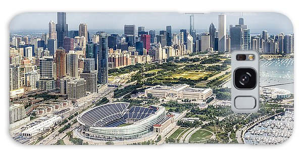 Soldier Field And Chicago Skyline Galaxy Case