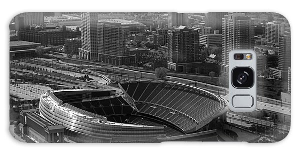 Soldier Field Chicago Sports 05 Black And White Galaxy Case by Thomas Woolworth