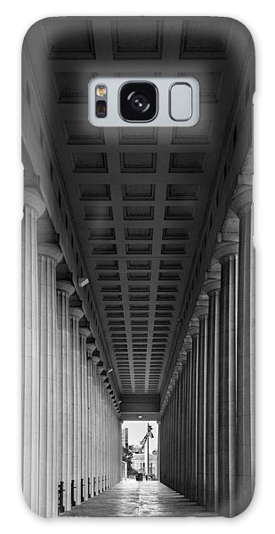 Soldier Field Colonnade Chicago B W B W Galaxy Case