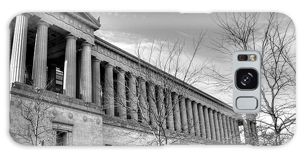 Soldier Field In Black And White Galaxy Case