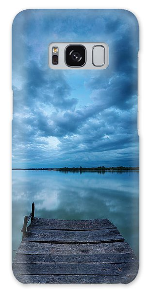 Solitary Pier Galaxy Case by Davorin Mance