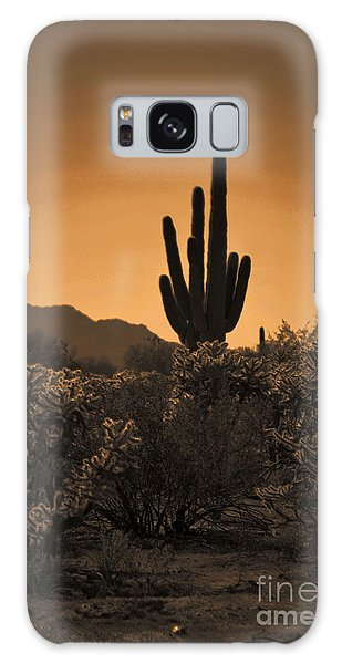 Solitary Saguaro Galaxy Case by Deb Halloran