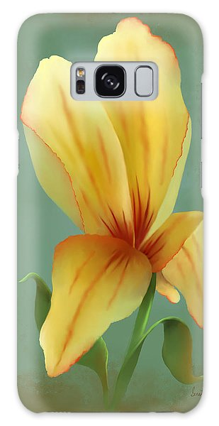 Solitary Yellow Tulip Galaxy Case