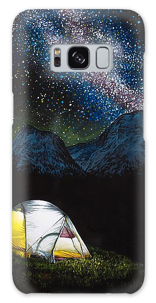 Galaxy Case featuring the painting Solitude by Aaron Spong