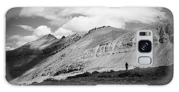 Solitude Below Sperry Glacier Galaxy Case