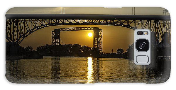 Solstice Sun Through Two Bridges Galaxy Case