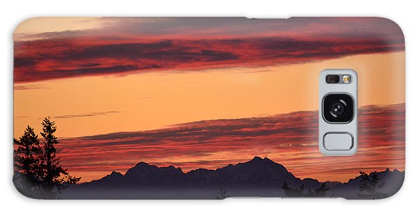 Solstice Sunset I Galaxy Case by Gayle Swigart