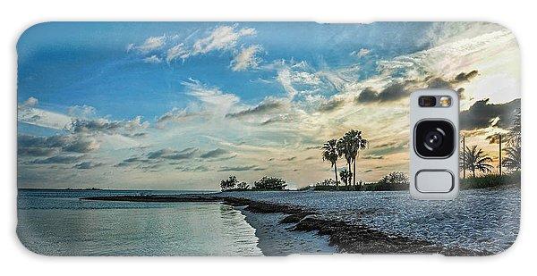 Sombrero Beach Sunset Galaxy Case