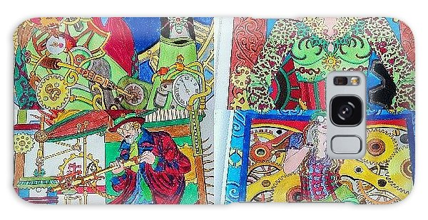 Steampunk Galaxy Case - Some Pages From Daddy's Colouring Book by Princess White