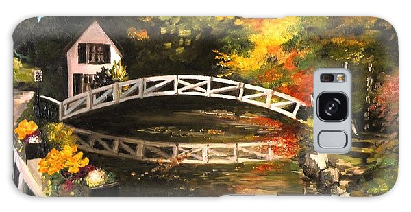 Somesville Maine Footbridge Galaxy Case