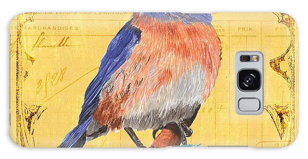 Bluebird Galaxy Case - Colorful Songbirds 1 by Debbie DeWitt