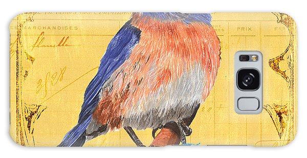 Bluebird Galaxy S8 Case - Colorful Songbirds 1 by Debbie DeWitt