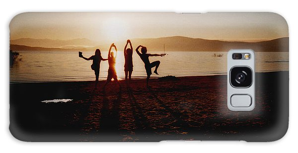 Beach Sunset Galaxy Case - Sonnentanz by Juan  Bosco
