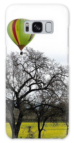 Sonoma Hot Air Balloon Over Mustard Field Galaxy Case
