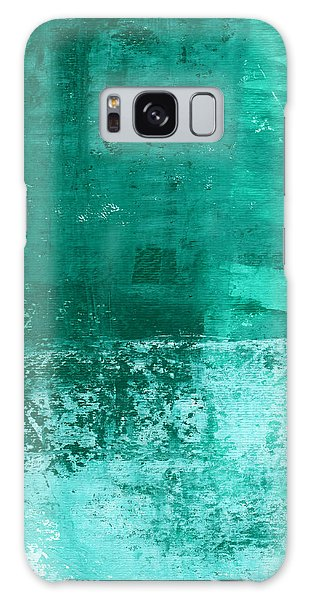 Soothing Sea - Abstract Painting Galaxy Case by Linda Woods