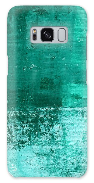 Bedroom Galaxy Case - Soothing Sea - Abstract Painting by Linda Woods