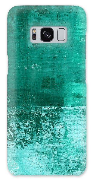 Woods Galaxy Case - Soothing Sea - Abstract Painting by Linda Woods