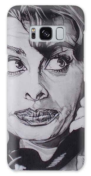 Sophia Loren Telephones Galaxy Case by Sean Connolly