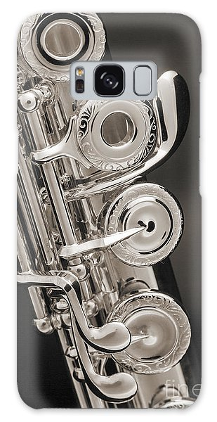 Soprano Flute Music Instruments Photo In Sepia  3441.01 Galaxy Case by M K  Miller