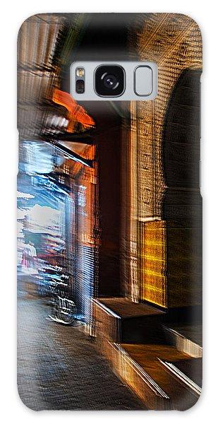 Souk And Mosque Door In Marrakech Galaxy Case