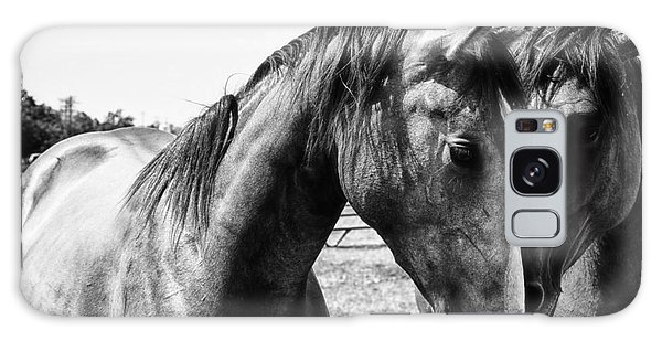 White Horse Galaxy S8 Case - Soul Mates by Toni Hopper