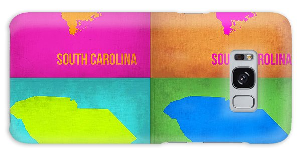 City Map Galaxy Case - South Carolina Pop Art Map 1 by Naxart Studio