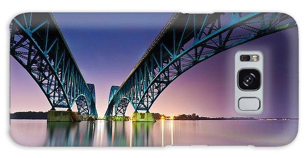 South Grand Island Bridge Galaxy Case by Mihai Andritoiu