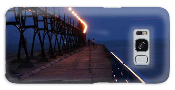 South Haven Pier At Twilight Galaxy Case by Bill Woodstock