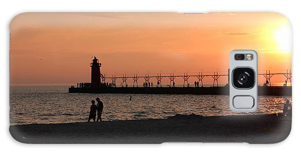 South Haven Sunset Galaxy Case by Bill Woodstock