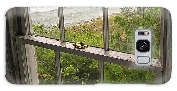 South Manitou Island Lighthouse Window Galaxy Case by Mary Lee Dereske