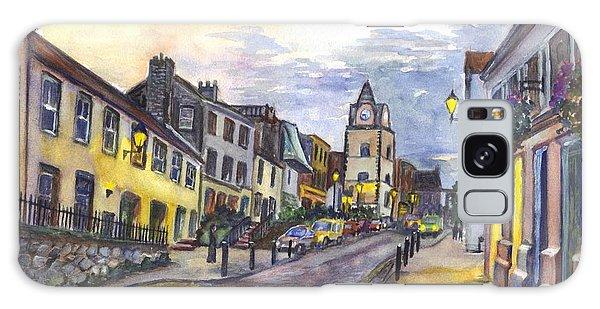 Nightfall At South Queensferry Edinburgh Scotland At Dusk Galaxy Case