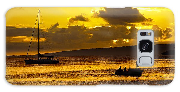 South Sea Sunset - Ferry And Yacht At Port Vila - Vanuatu - South Pacific.  Galaxy Case