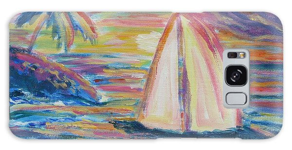 South Seas Sunset Galaxy Case by Diane Pape