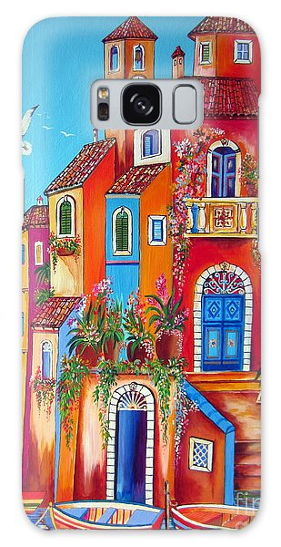 Southern Italy Amalfi Coast Village Galaxy Case