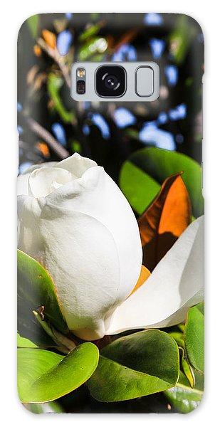 Southern Magnolia Blossom Galaxy Case