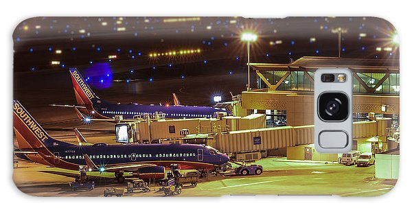 Southwest 737s In For The Night Galaxy Case by Alan Marlowe