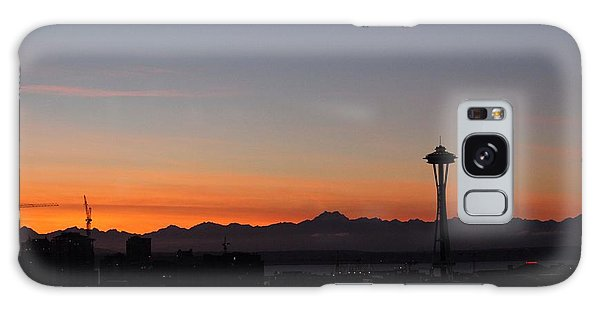 Space Needle Sunset Galaxy Case