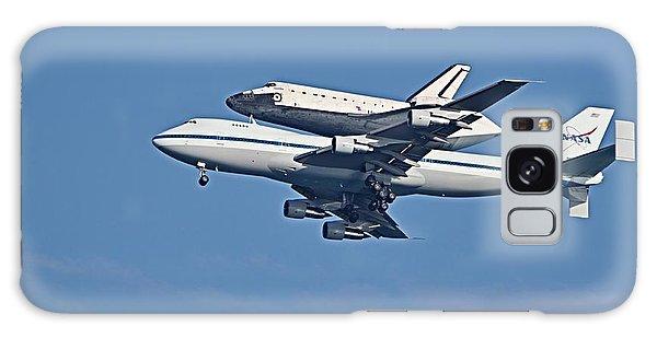 Space Shuttle Atlantis Piggybacked On 747 Galaxy Case