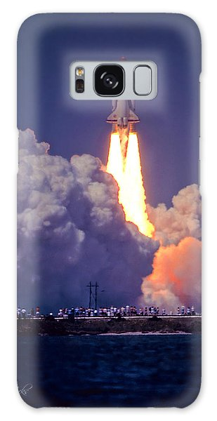 Space Shuttle Challenger Sts-6 First Flight 1983 Photo 1  Galaxy Case by Marie Hicks