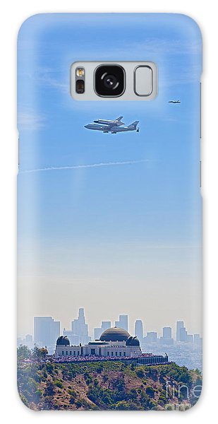 Space Shuttle Endeavour And Chase Planes Over The Griffith Observatory Galaxy Case
