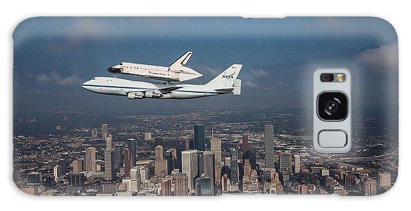 Space Shuttle Endeavour Over Houston Texas Galaxy Case