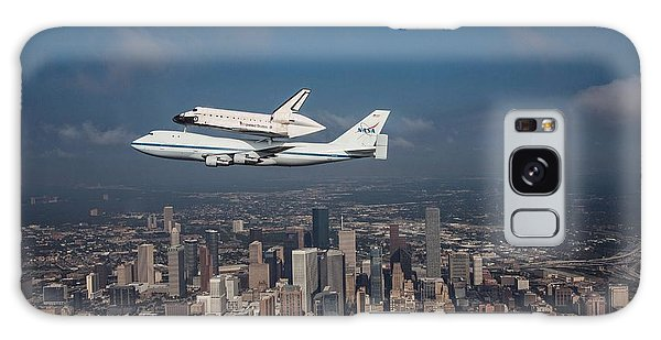 Space Shuttle Endeavour Over Houston Texas Galaxy Case