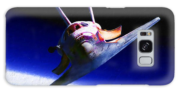 Space Shuttle Head On Galaxy Case