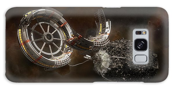 Galaxy Case featuring the digital art Space Station Construction by Bryan Versteeg